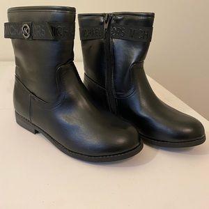 Girls Michael Kors Black Garance boot size 1